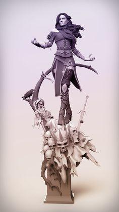 Yennefer 3D Fan Art by Hugo Gómez HUGO GÓMEZ is a Sculpture supervisor at Bigchild creatives from Ma