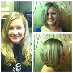 Liz before and after! Amy Livingston- Salon Nuage
