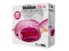 DIGITALE Wekker. Isa kan niet slapen van het tikken van de wekker die ze nu heeft.... en roze vindt ze wel mooi - toys XL 12,99
