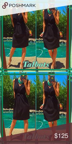 Celebrate Pop that champagne when you put this brand NWT talbots jet black beauty on. Sleek, sexy and ready to celebrate all summer long!. Add a pop of neck candy and your walking that fashion runway ladies!!!. Talbots Dresses