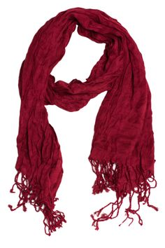 Burgundy Crinkle Scarf #May23Online