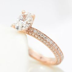 Inspired by show-stopping engagement ring, the oval Halcyon is set with three rows of diamonds. Available in white, yellow or rose gold. Starting from (excluding centre diamond). Other centre stone shapes are available. Most Popular Engagement Rings, Beautiful Engagement Rings, Rose Gold Engagement Ring, Designer Engagement Rings, Beautiful Rings, Or Rose, Ring Designs, Moissanite, Bracelets
