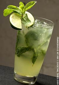 Italian Mojito...looking for a fun birthday party cocktail for this weekend, and I may have just found it: combining Proseco w/a classic mojito...I'm sold. Cheers!
