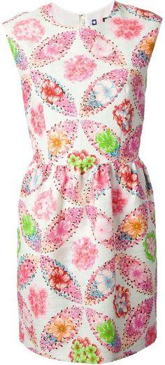 MSGM sleeveless floral shift dress on shopstyle.com