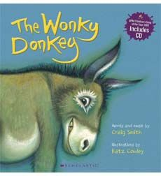 In this very funny, cumulative song, each page tells us something new about the donkey until we end up with a spunky, hanky-panky cranky stinky dinky lanky honky-tonky winky wonky donkey, which will have children, and adults alike, in fits of laughter! There is much fun to be had by listening to the song and trying to predict the new word for each clue given!