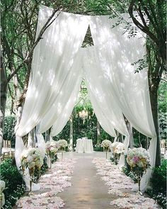 Soft flowy white curtains for the wedding ceremony aisle inspiration # outdoor wedding garden Simply Elegant Rustic Wedding Table Runner, Cheesecloth Table Centerpiece,Photo Back Drop, New Born Wedding Table, Fall Wedding, Diy Wedding, Wedding Events, Wedding Flowers, Wedding Backyard, Trendy Wedding, Wedding Reception, Romantic Wedding Decor