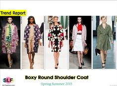 Boxy Round Shoulder Coat Trend for Spring Summer 2015. Tracy Reese, A Détacher, Carolina Herrera, Miu Miu, and Jason Wu Spring Summer 2015. #Fashion #SS2015 #SS15
