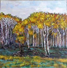 Original Acrylic Painting Beautiful Autumn by JennyYaoCanvas