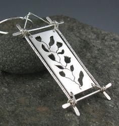 Collar de plata esterlina colgante Botánico por annewalkerjewelry
