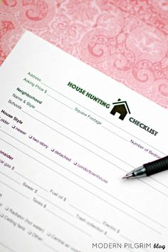 Ultimate House Hunting Checklist - Buying a home? Print this house hunting checklist for free and take it with you as you tour homes. It is detailed, has room for notes, and uses a grading system.