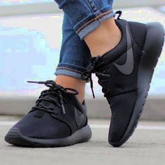 7ab898c042b31b Nike Roshe black and light blue sneakers! Worn only three times perfect  condition black light blue Nike Roshes. Size  US 8 Nike Shoes Sneakers