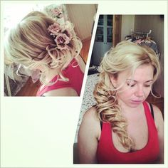 I love this! Would be really cute even without side braid