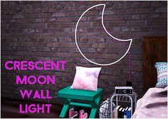 Simsworkshop: Sympxls Crescent Moon Wall Light • Sims 4 Downloads