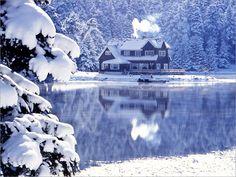 Abant gölü kış manzarası