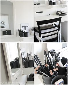 Remodelaholic » Blog Archive Beautiful Black and White Office Space » Remodelaholic