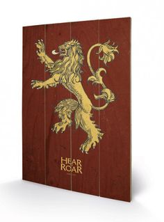 Game of Thrones Holzdruck Lannister 40 x 60 cm