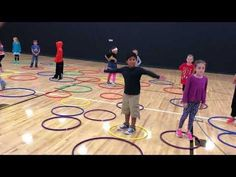 PAC Man - hopping , jumping and leaping Gym Games For Kids, Elementary Physical Education, Physical Education Activities, Elementary Pe, Summer Camp Games, Pe Activities, Health And Physical Education, Youth Games, Pe Games