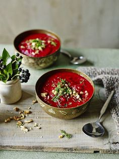 This nutritious soup comes from the lovely Madeleine Shaw. Filled with our favourite root veggies, beets and sweet potato but also fresh dill, this dish is perfect to eat for when you're between seasons.