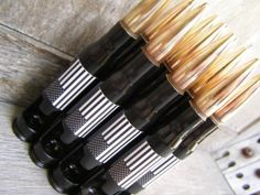 American Flag 50 Cal Bottle Openers. Classic Groomsmen gifts that will last a lifetime.