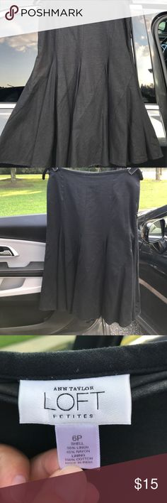 Ann Taylor Loft petites Flowing linen skirt makes going out for dancing wonderful! Side zipper & simple lining underneath keep this skirt moving. LOFT Skirts Asymmetrical