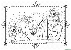 Colouring Pages, Adult Coloring Pages, Coloring Books, Christmas Colors, Christmas And New Year, Christmas Crafts, Preschool Crafts, Crafts For Kids, Diy Agenda