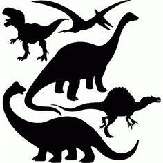 Silhouette Design Store: dinosaurs set 1