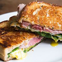 Greens, Eggs, and Ham, Grilled Cheese Sandwich by Simply Recipes is #whatsfordinner