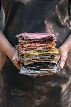 Naturally dyed swatches