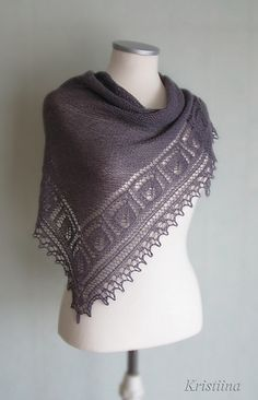 Izhitsa Shawl by Patusha free knitting pattern (in English or Russian) on Ravelry Knit Or Crochet, Lace Knitting, Crochet Shawl, Knitting Stitches, Knitting Patterns Free, Free Pattern, Knitted Poncho, Knitted Shawls, Crochet Scarves