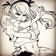 #12 NOOO #babydoll #suckerpunch #movies #fanatsy #boys #fanart #lady #school #girls #baby #doll #bunny #scratches #explosion #wave #sexy #inktober #halloween #drawlloween #jessaotero #thegreysanctuary
