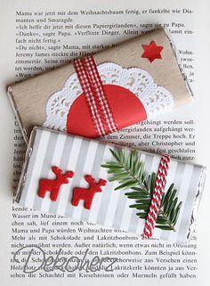 Chocolate bar Christmas wrapping Новогодняя упаковка для шоколада
