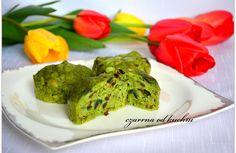 zielone babeczki na parz