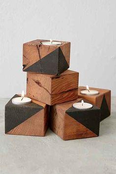 Farmhaus Dark Douglas Fir Candle Holder - Urban Outfitters