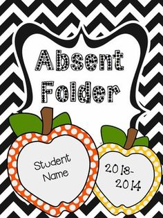 FREE - Student Absent Folder