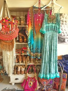 Boho dream closet! Filled with happy colors!
