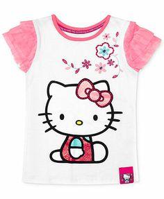 Hello Kitty Little Girls' Ruffle Sleeve Tee