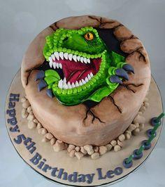 Dinosaur Cakes For Boys, The Good Dinosaur Cake, Dinosaur Cake Pops, Dino Cake, Dinasour Birthday Cake, Dinosaur Birthday Party, 3rd Birthday, Homemade Birthday Cakes, Homemade Cakes