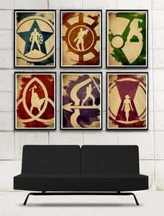 Vintage Avengers Minimalist Movie Poster Set / 6 por moonposter