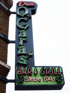 Dan O'Gara's Bar & Grill Since 1941 ~ Neon Sign. St. Paul, Minnestota