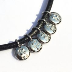 Braille initial charm necklace Jewelry in Braille