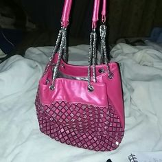 Not for sale as of yet ??????????? This is just Gourgous????????This has always been one of my favorite purses I bought this at a dress shop down town In Savannah GA on River Street.....it pink OBVIOUSLEY my favorite Color..... shop a Down Town Savannah GA  Bags Shoulder Bags