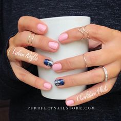 Grab your Color Street to mix and match to make the Purrfect mixed mani. The easiest nail art you'll ever use! Love Nails, Pink Nails, How To Do Nails, Pretty Nails, Gel Nails, Nail Polish, Nail Color Combos, Nail Colors, Simple Nail Designs