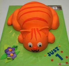 De taart voor Lars z'n eerste verjaardag!