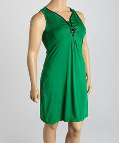 Look what I found on #zulily! Gulf Green Sleeveless Dress - Plus by Millenium Clothing #zulilyfinds