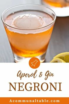 This Aperol & Gin Negroni is the perfect party drink recipe! A less bitter version of the classic Negroni, it's sweet, tart and refreshing! #aperol #cocktails #cocktailrecipes #easycocktails #partydrinks Winter Cocktails, Easy Cocktails, Classic Cocktails, Gin Cocktail Recipes, Whiskey Cocktails, Refreshing Cocktails, Drink Recipes, Sangria, Aperol Drinks