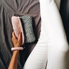 "@alexskrebcova's photo: ""Мой первый вязаный клатч почти готов My first knitted clutch is almost done"""