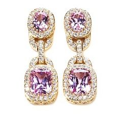Jean Dousset Absolute™ Created Pink Sapphire Earrings