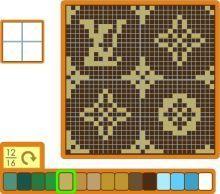 おい森 ブログ-ルイビトン Bead Loom Patterns, Crochet Stitches Patterns, Beading Patterns, Cross Stitch Designs, Cross Stitch Patterns, Pixel Art, Modele Pixel, Fair Isle Chart, Diy Friendship Bracelets Patterns