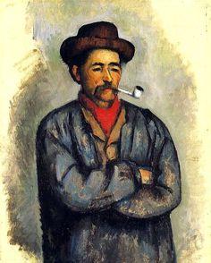 Ritratto di un uomo con la pipa di Paul Cezanne