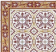 """Cuban Heritage Design 140 1A 8"""" x 8"""" Cement Tile   Encaustic Cement Tile"""